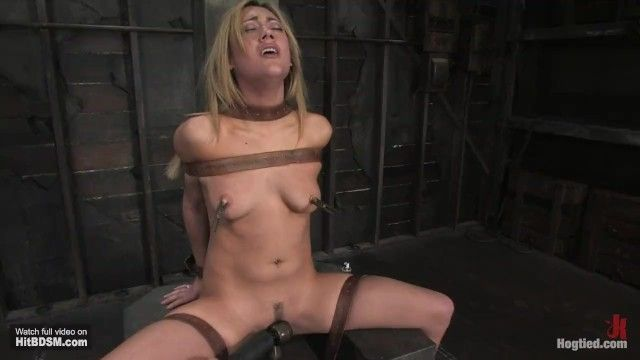 Gwen is nipp suctions clams, gagged and machine screwed