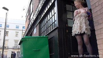 Golden-haired non-professional exhibitionist amber west upskirt footage and public flashing