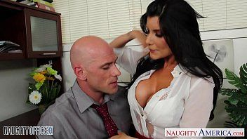 Office chick in high heels romi rain banging