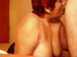 Large titted granny practices on bbc