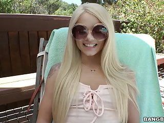 Legal age teenager elsa jean cant live without biggest jock