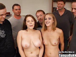 Two honeys large tit little tit team fuck pumping