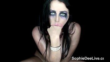 Spooky whore sophie dee is a freaky halloween trick