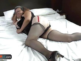 Agedlove granny with large love bubbles team-fucked