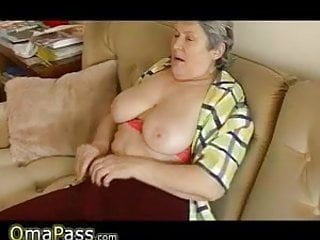 Granny with large sagging pointer sisters masturbating on the ottoman