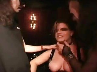 Large tit rock teryn screwed on smutty club floor
