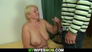 Hung stud bonks large melons blond mother inlaw
